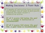 making decisions 3 point rule