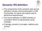 semantic ws definition