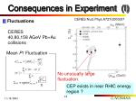 consequences in experiment i