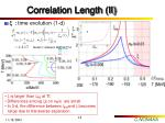 correlation length ii