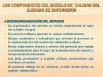 los componentes del modelo de calidad del cuidado de enfermer a1