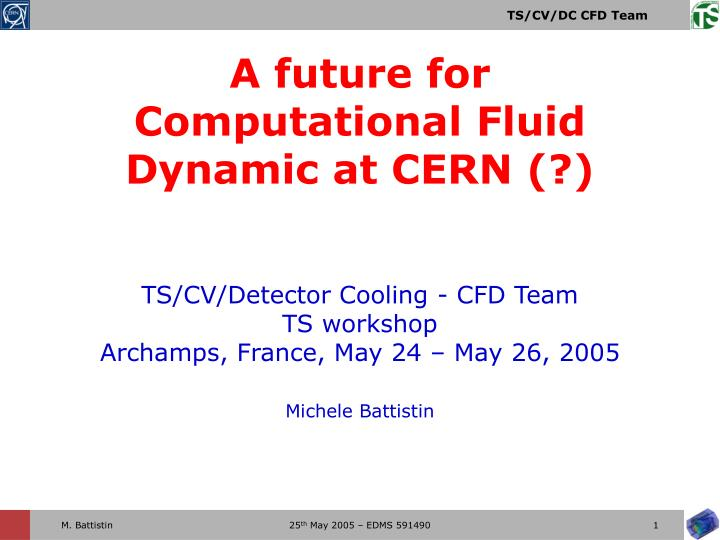 ts cv detector cooling cfd team ts workshop archamps france may 24 may 26 2005 michele battistin n.