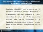 relacionamento entre institui es financeiras e clientes transpar ncia4