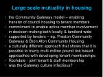 large scale mutuality in housing