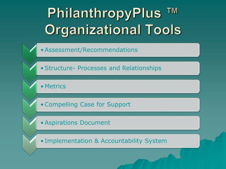 Philanthropyplus organizational tools