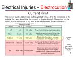 electrical injuries electrocution