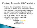 content example hs chemistry