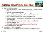 cdbg training series