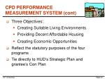 cpd performance measurement system cont1
