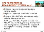 cpd performance measurement system cont3