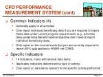 cpd performance measurement system cont4