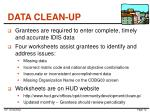 data clean up
