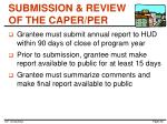 submission review of the caper per