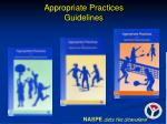 appropriate practices guidelines