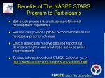 benefits of the naspe stars program to participants