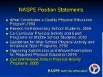 naspe position statements1