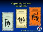opportunity to learn documents