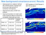 new background covariance errors results