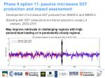 phase ii option 11 passive microwave sst production and impact assessment