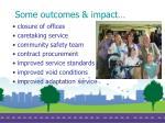 some outcomes impact