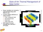 state of art thermal management of data center