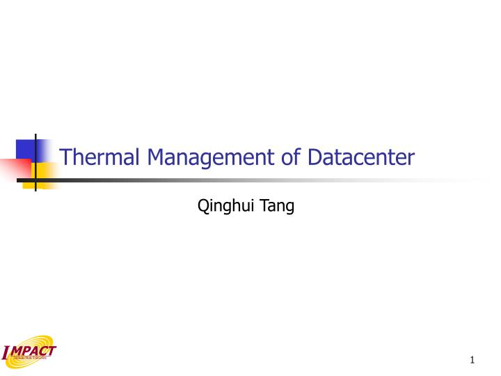 thermal management of datacenter n.