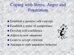 coping with stress anger and frustration