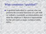 what constitutes qualified