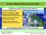 carbon offsets under cap and trade1