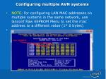 configuring multiple avn systems