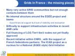 grids in france the missing pieces