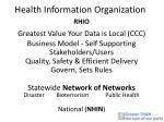 health information organization