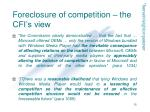foreclosure of competition the cfi s view