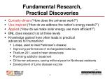 fundamental research practical discoveries