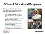 office of educational programs