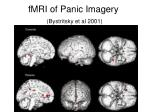 fmri of panic imagery bystritsky et al 2001