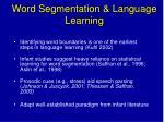 word segmentation language learning