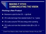 making it stick communicating the vision