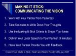 making it stick communicating the vision9