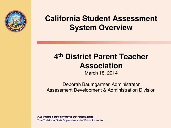 california student assessment system overview n.