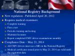 national registry background