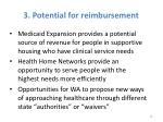 3 potential for reimbursement