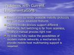 problems with current implementations