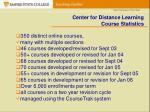 center for distance learning course statistics