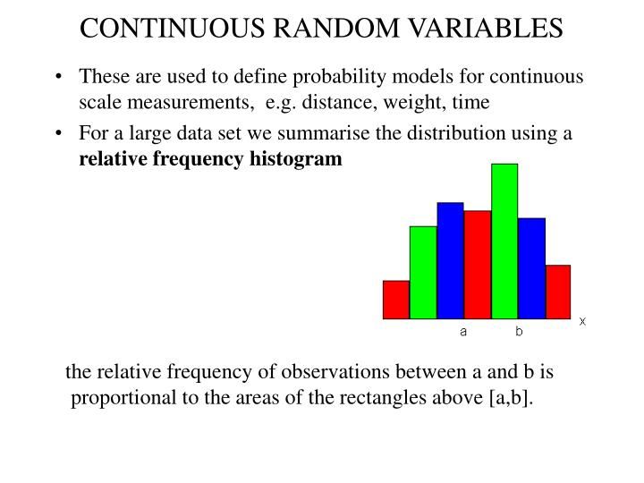 continuous random variables n.