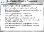 certification ensuring professional capability1