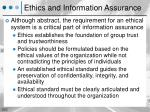 ethics and information assurance