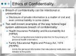 ethics of confidentiality