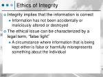 ethics of integrity