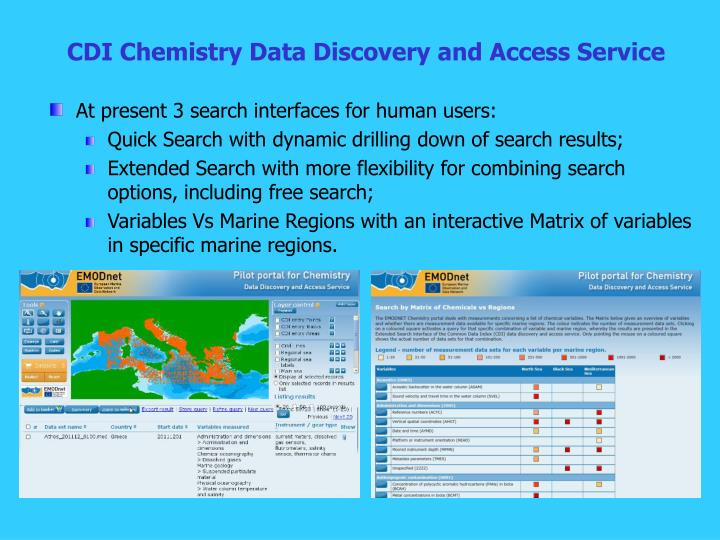 CDI Chemistry Data Discovery and Access Service